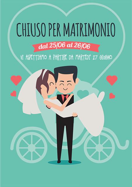 Molto Chiuso per Matrimonio – Osteria del Portone JU77