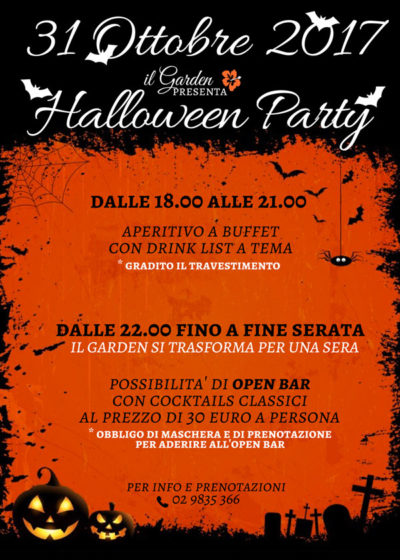 Halloween Party al Garden